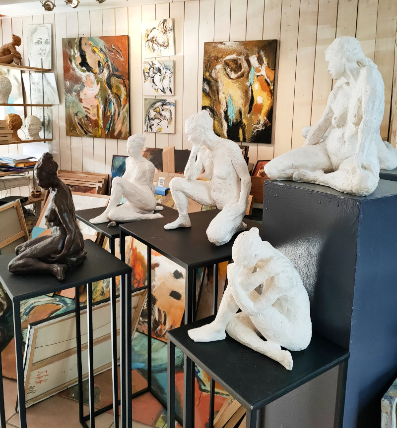 Atelier d'artiste Juliette Trébuchet à Saint Aubin de Luigné, près d'Angers