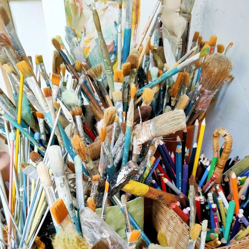 Cours de peinture à l'année et les samedis à Beaucouzé à l'atelier de Juliette